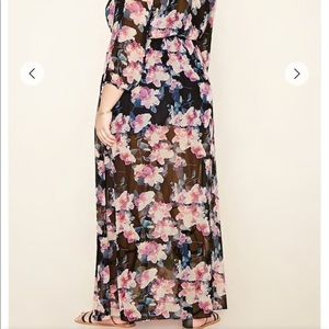 Chiffon long dress Sz 14/16 forever 21